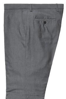 素色正面长裤