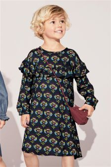 Ruffle Detail Print Dress (3mths-6yrs)