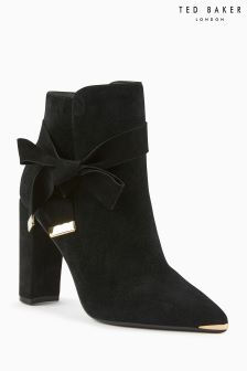 Ted Baker Black Sailly Pointed Block Heel Boot