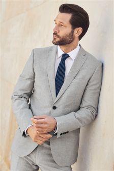 Striped Cotton Tailored Fit Suit: Jacket