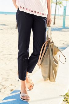 Cotton Blend Twill Trousers