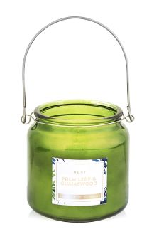 Palm Leaf And Guaicwood Fragranced Candle Jar