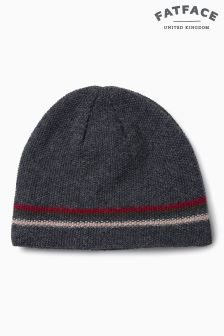 Fat Face Charcoal Waffle Beanie