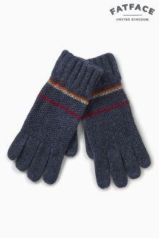 FatFace Navy Waffle Full Finger Gloves