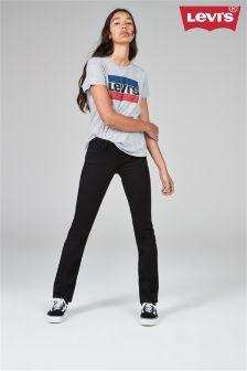Czarne dżinsy o prostych nogawkach Levi's® 714®