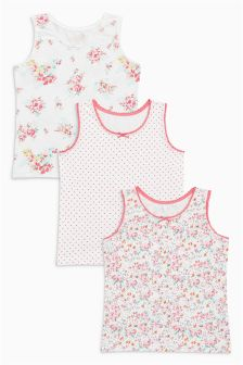 Floral/Spot Vests Three Pack (1.5-12yrs)