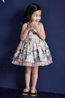 فستان حفلات بالورود من الجاكار (3 أشهر -6 سنوات)