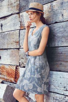 Kleid aus Leinengemisch