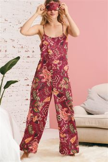 Floral Satin Jumpsuit