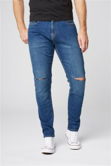 Ripped Knee Jeans