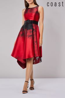 Coast Red Zala Jacquard Midi Dress