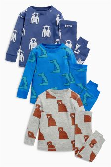 Animal Pyjamas Three Pack (9mths-8yrs)