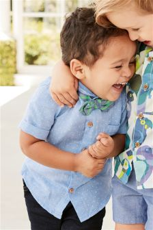 Spot Shirt With Bow Tie (3mths-6yrs)