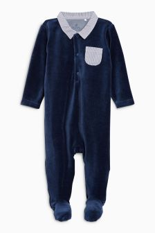 Velour Smart Sleepsuit (0mths-2yrs)