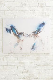 Artist Collection Tickly Kisses Hare Canvas