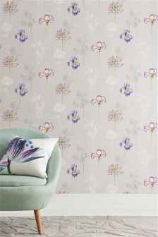 Paste The Wall Illustrative Fusion Flower Wallpaper