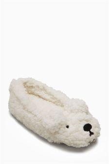 Polar Bear Slippers (Older Girls)