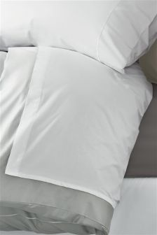 300 Thread Count Soft & Silky Cotton White Flat Sheet