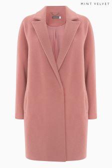 Elegancki, różowy płaszcz Mint Velvet Lux