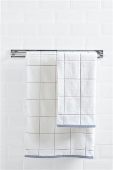Scandinavian Check Towel