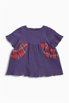 Frill Sleeve Dress (0mths-2yrs)