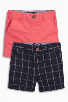Check Chino Shorts Two Pack (3mths-6yrs)