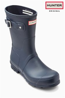 Hunter Original Matt Navy Short Wellington Boot