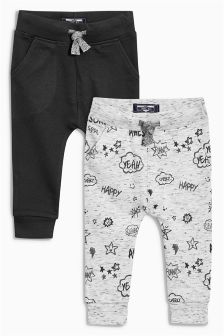 Skinny Scribble Joggers Two Pack (3mths-6yrs)