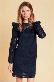 Broderie Ruffle Dress