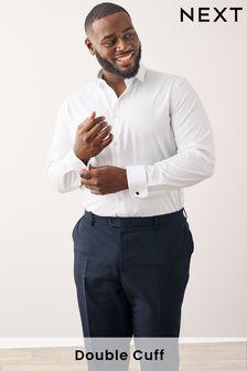 Хлопковая рубашка со срезанным воротником