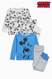 Mickey Mouse™ Snuggle Fit Pyjamas Two Pack (9mths-8yrs)