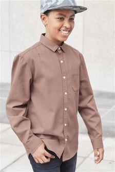 Искусственно состаренная рубашка с длинным рукавом (3-16 лет)