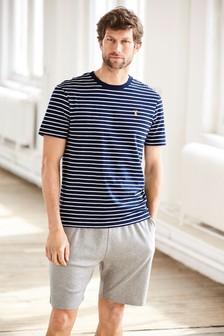 Stripe Jersey Short Set