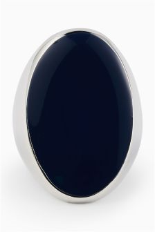 Statement Navy Stone Ring
