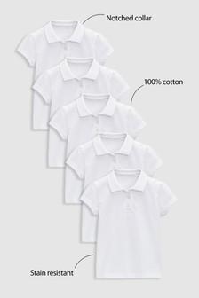 Pięć koszulek polo (3-16 lat)