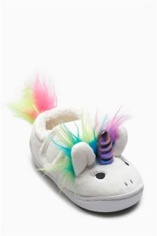 Unicorn Hard Sole Slippers (Younger Girls)