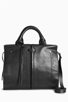 Formal Leather Tote Bag