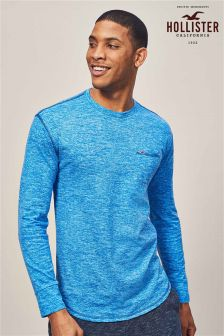 Hollister Navy Long Sleeve T-Shirt