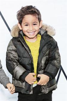 Куртка с камуфляжным узором и контрастной отделкой (3 мес.-6 лет)