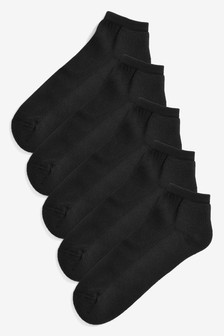 Cushion Sole Trainer Socks Five Pack
