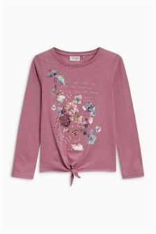 Floral Tie Front Top (3-16yrs)