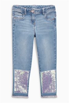 Sequin Relaxed Skinny Jeans (3-16yrs)