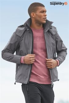 Superdry Charcoal Hooded Cliff Hiker Jacket