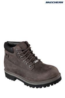 Skechers® Grey Sergeants Verdict Waterproof Nubuck Padded Collar Boot