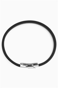 Premium Leather Secure Clasp Band