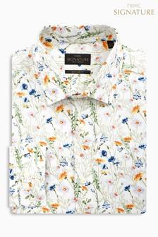 Коллекционная рубашка стандартного кроя с цветочным рисунком