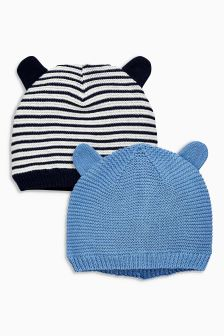 Hats Two Pack (0mths-2yrs)