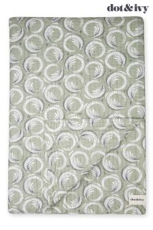 Dot and Ivy Deco Swirl Quilted Throw