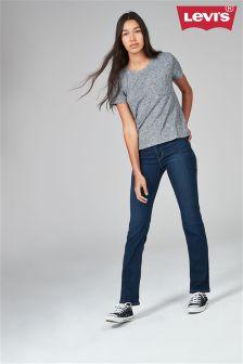 Niebieskie sprane proste dżinsy Levi's® 714™