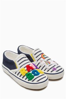 Rainbow Skate Shoes (Younger Girls)